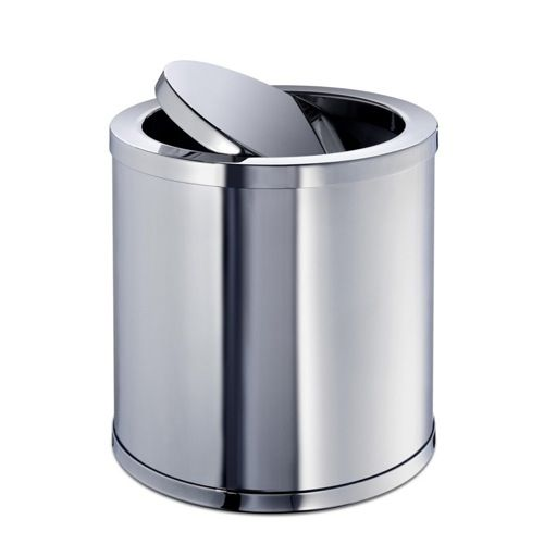 Waste Basket Windisch 89182 Br Round Mini Bin With Swivel Lid