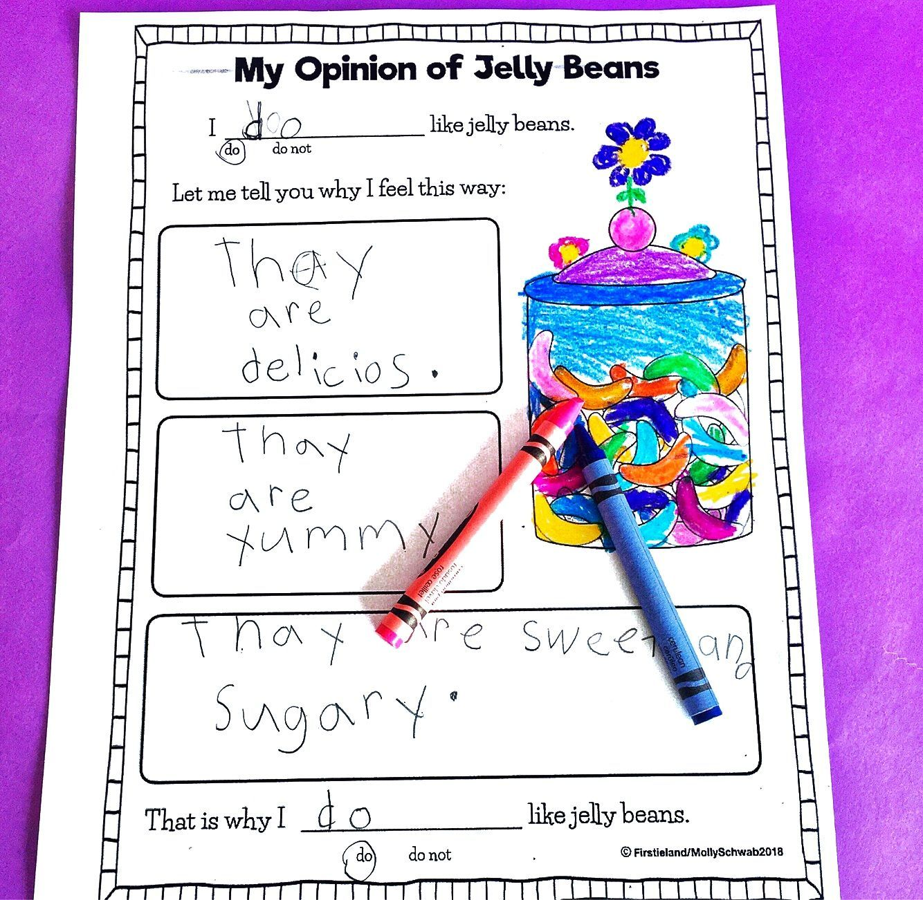 First Grade Students Will Love This Opinion Writing Prompt