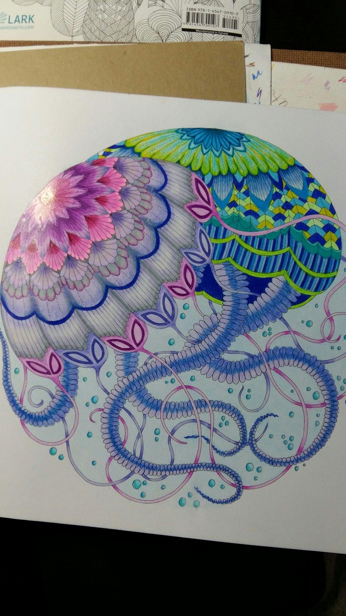 Jellyfish Millie Marotta Animal Kingdom. Prismacolors and Marco ...
