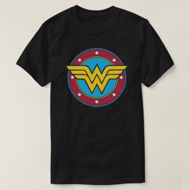 Wonder Woman  Circle & Stars Logo T-Shirt #Sponsored , #Aff, #amp, #Stars, #Logo, #Shop, #Woman