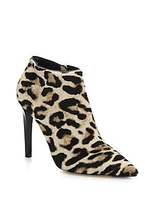 bf64333be9e Jimmy Choo Liesl Leopard-Print Calf Hair Booties - Natural - Size 38 ...