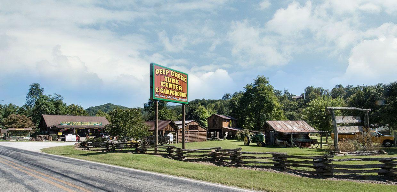 Cherokee near a smokey mountain campground near bryson