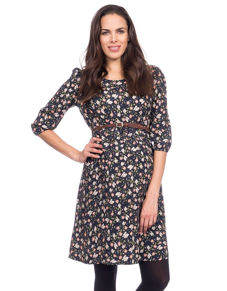 Autumn Floral Maternity Dress