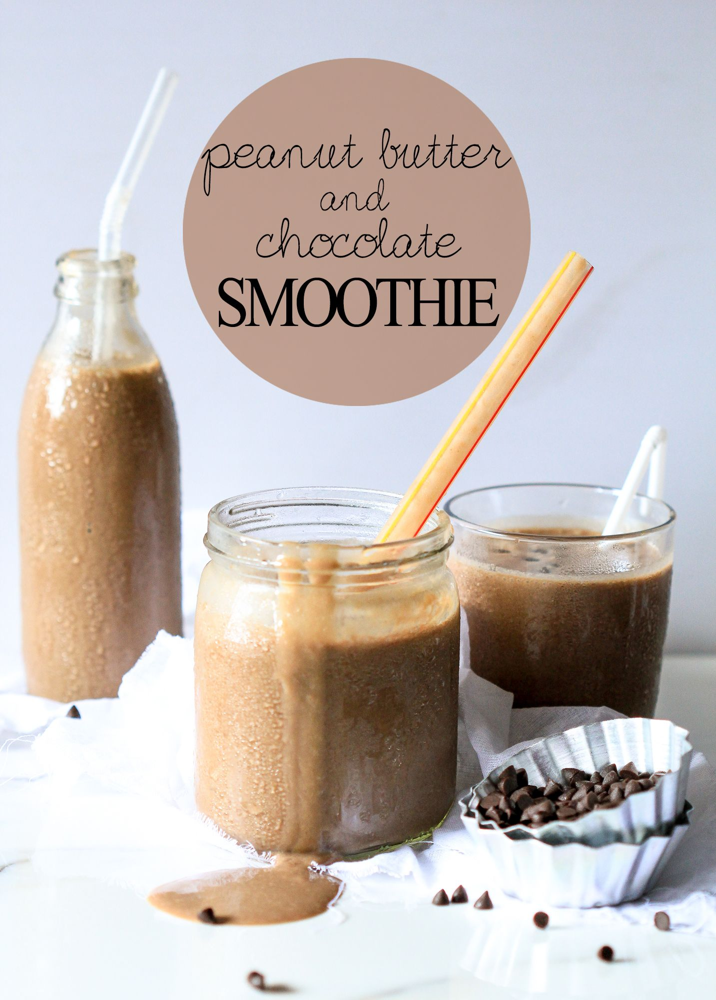 Peanut Butter And Chocolate Smoothie 3 Ingredients Vegan The Cupcake Confession Recipe Chocolate Smoothie Easy Smoothie Recipes Easy Smoothies