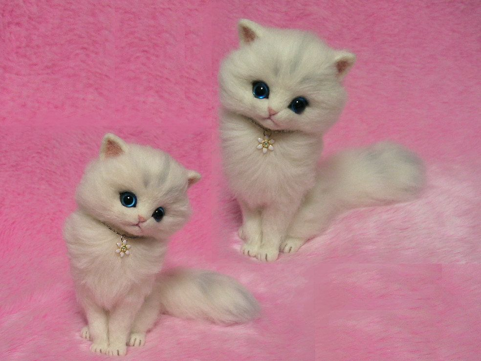 PDF Tutorial II Needle Felted Longhaired Cat; How to
