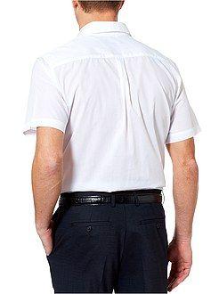 Wit overhemd maat m - Effen overhemd recht model