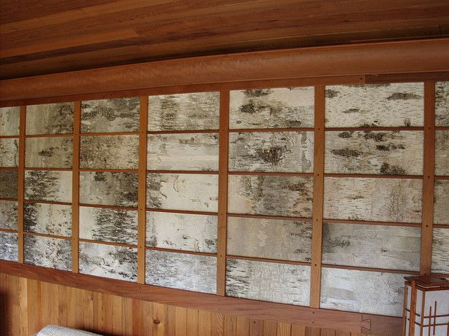 Birch Bark Wall Covering By Chubfisherman Via Flickr Birch Bark