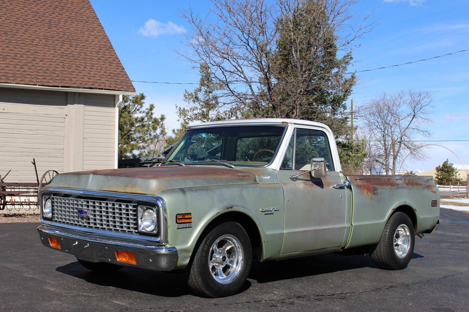 9b4aba4cfcb93 eBay  1972 Chevrolet C-10 Custom Deluxe 72 Chevrolet C10 short box HOT ROD  pickup with lots of FACTORY options RESTORED  classiccars  cars