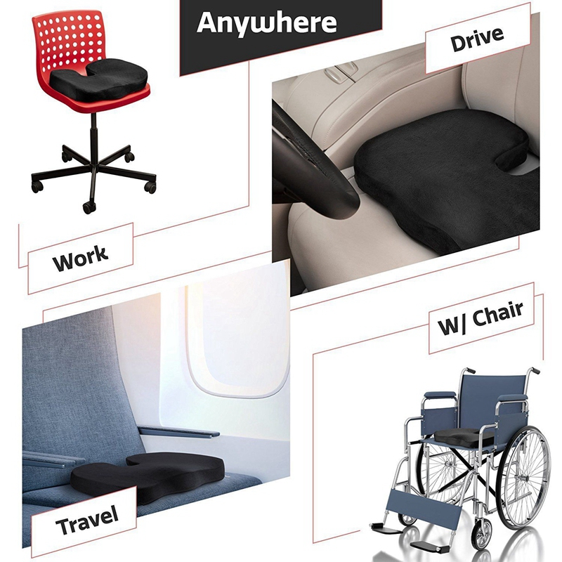 Orthopedic Pillow Seat Memory Foam Chair Office Cushion