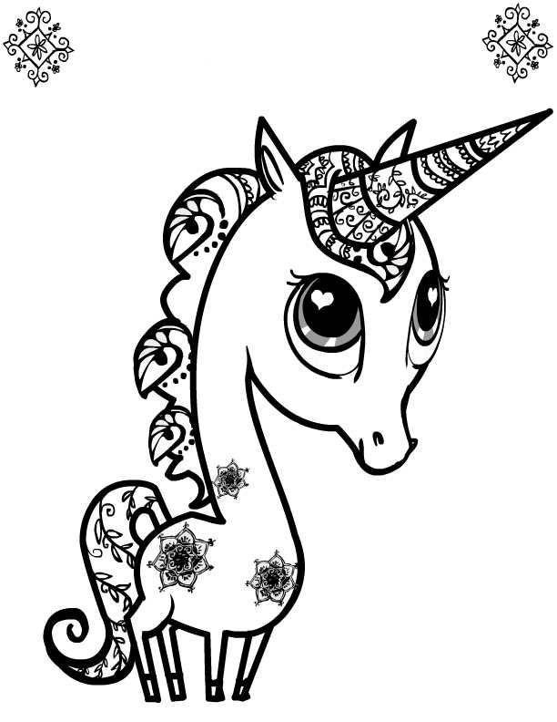 Cuties Coloring Pages : cuties, coloring, pages, Cuties, Coloring, Pages, Download, Print, Unicorn, Pages,, Animal, Disney
