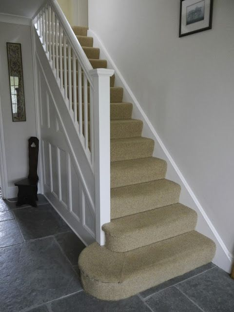 Dulux Nutmeg White Walls Slate Tile Floor Stairs Would