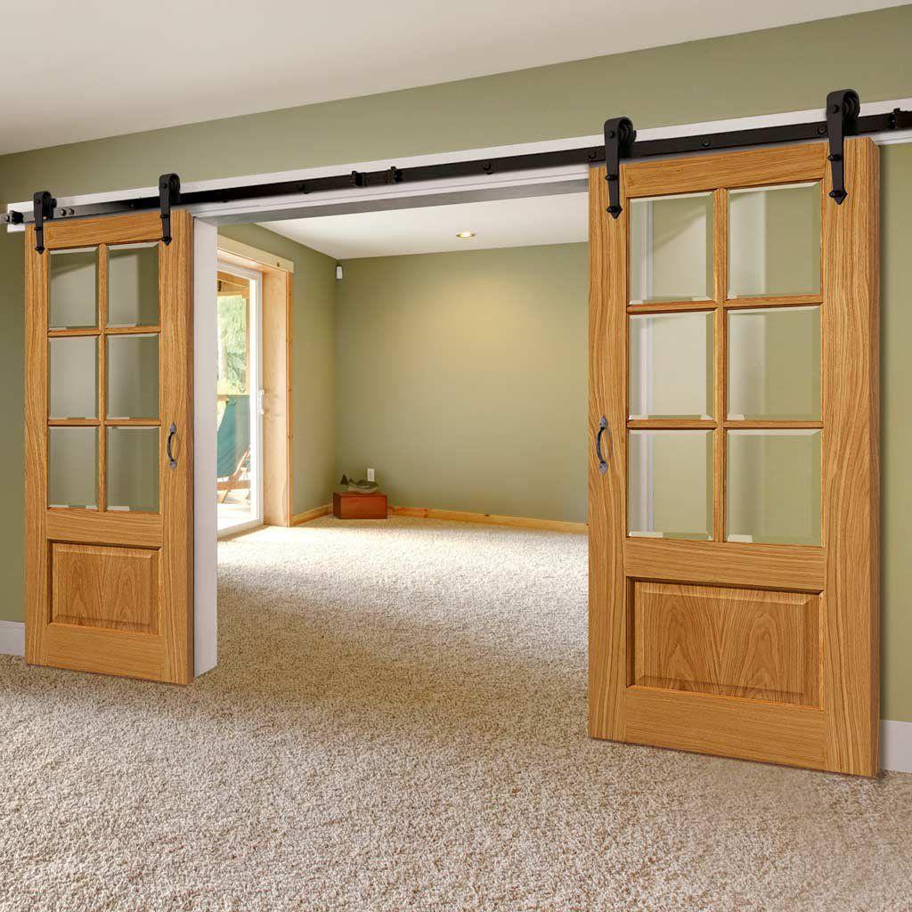 Double Sliding Door Track Dove Oak Doors Clear Glass Garage Door Design Sliding Doors Interior Barn Style Sliding Doors