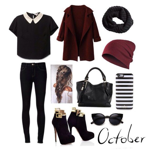 black and red, clothes, fashion, polyvore, polyvore outfits, ❤, ًًًًًًًًًًًًً