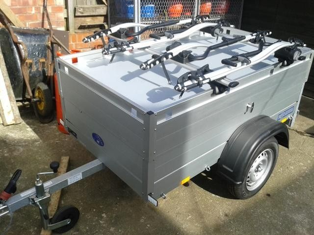 Beautiful All Aluminium Anssems Camping Trailer With Hard Top And 4 Bike Racks