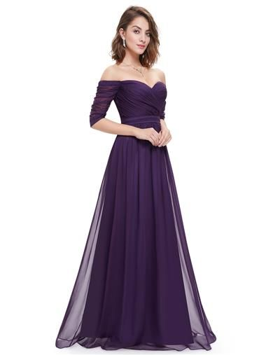 94c27f1eb535 Off-the-Shoulder Evening Gown with Sweetheart Neckline - Ever-Pretty ...