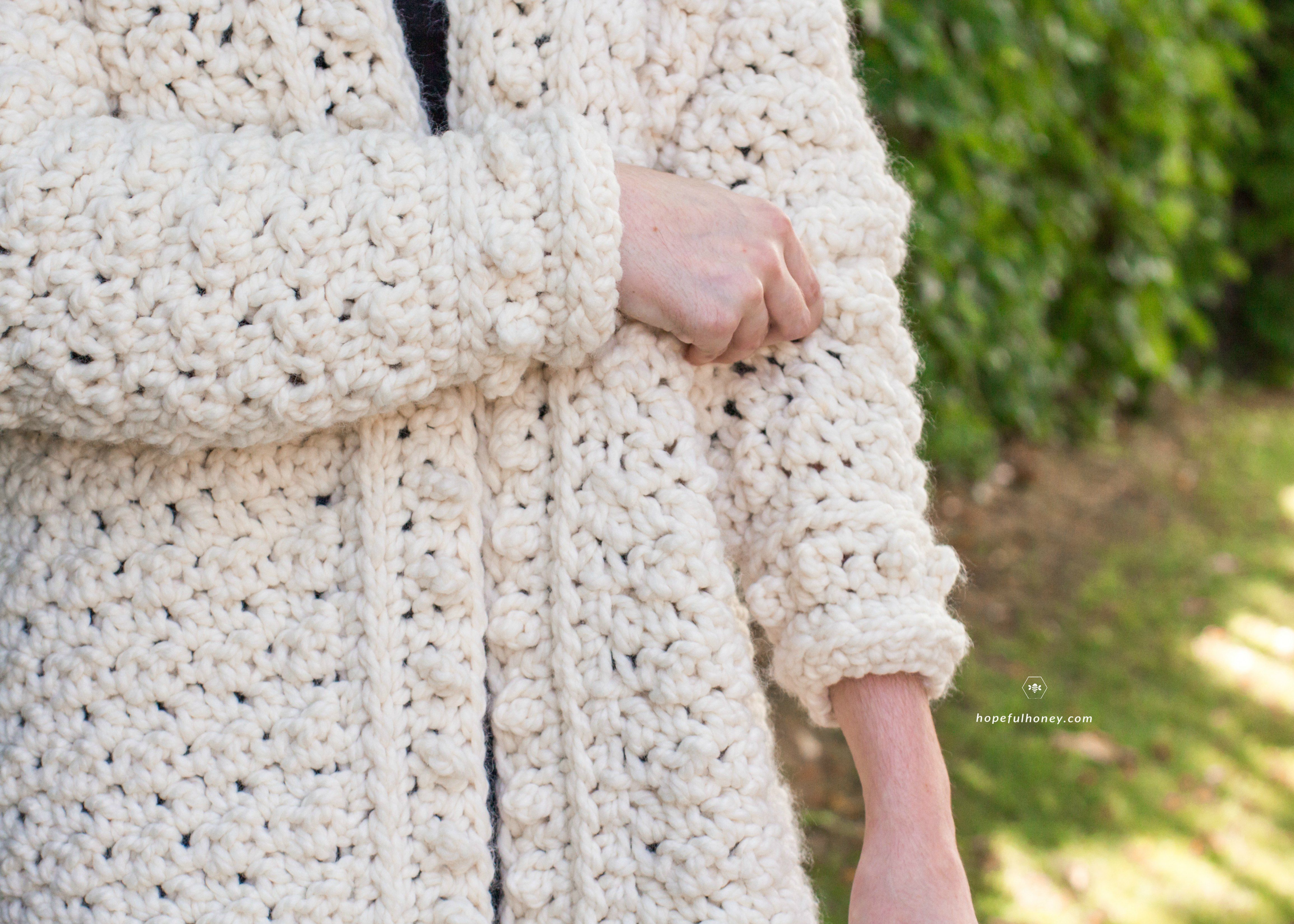 Snow Angel Cardigan Free Crochet Pattern by