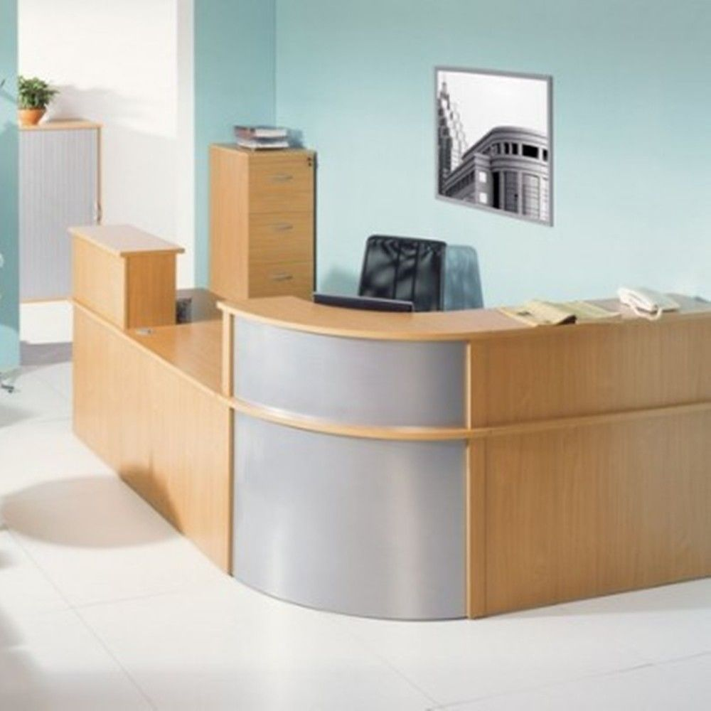 Large Corner Reception Unit Next Day Delivery Make An Impression On Visitors With This Attractive Desk