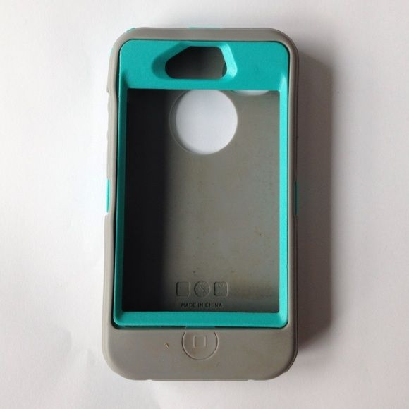 Teal and Gray OtterBox iPhone 4 Case Teal and Gray Otter Box iPhone 4 Case. In good condition. OtterBox Accessories Phone Cases