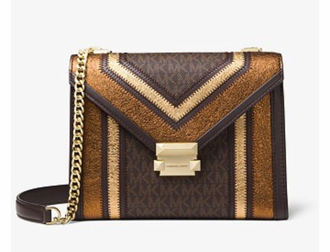8cc08256a6c8e0 MK Whitney Large Logo Convertible Shoulder Bag | Bag It! in 2019 ...