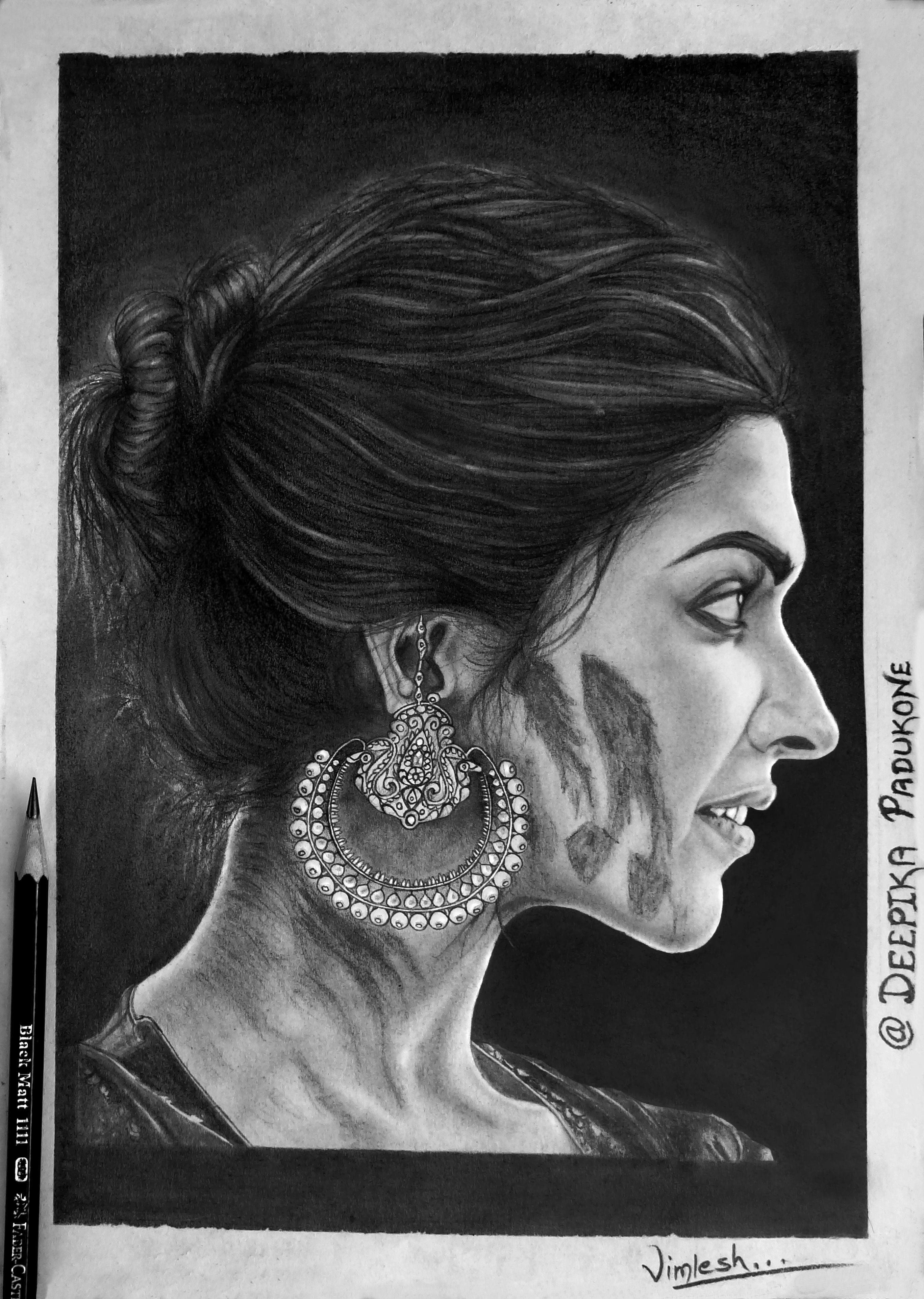 Portrait drawing deepika padukone drawing stuff in 2019 easy