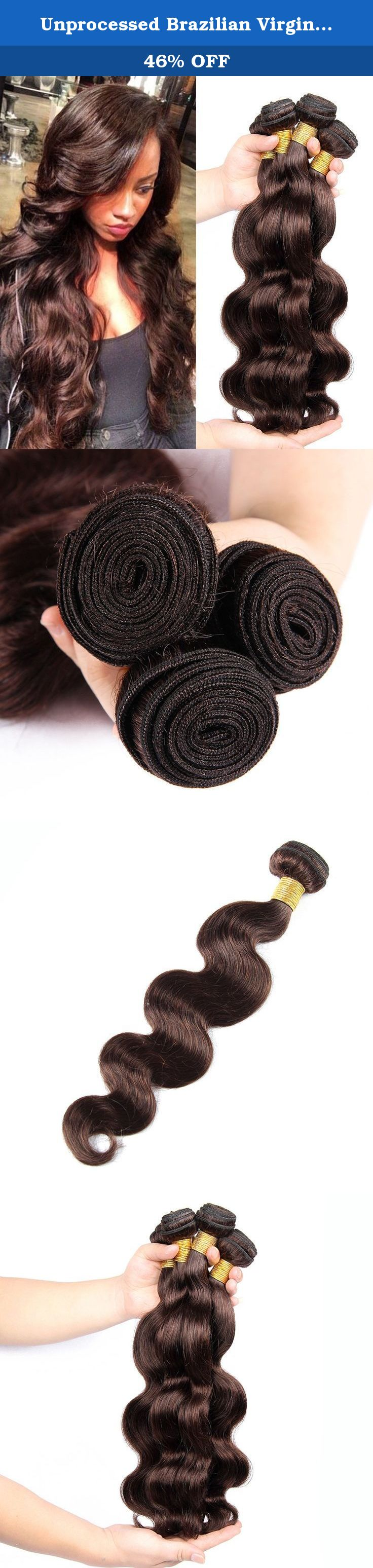 Unprocessed brazilian virgin hair body wave human hair weave pack