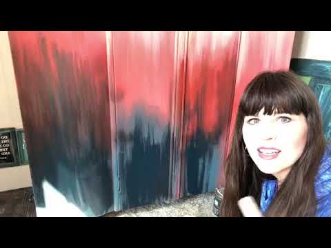 Painting Fire Red Part II Vintage Wardrobe Furniture Makeover - YouTube #theturquoiseiris