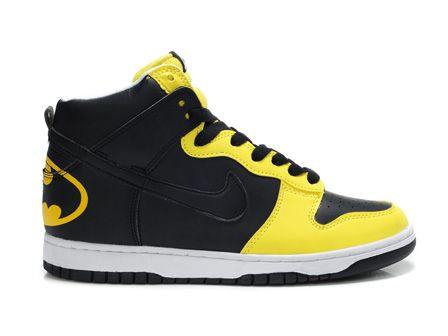 Batman Inspired Nike Dunk High Custom Shoes Chique