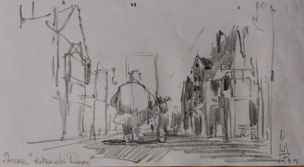 James C. Hegedus | Shrek -- US $1,295.00 in Entertainment Memorabilia, Movie Memorabilia, Storyboards & Concept Art