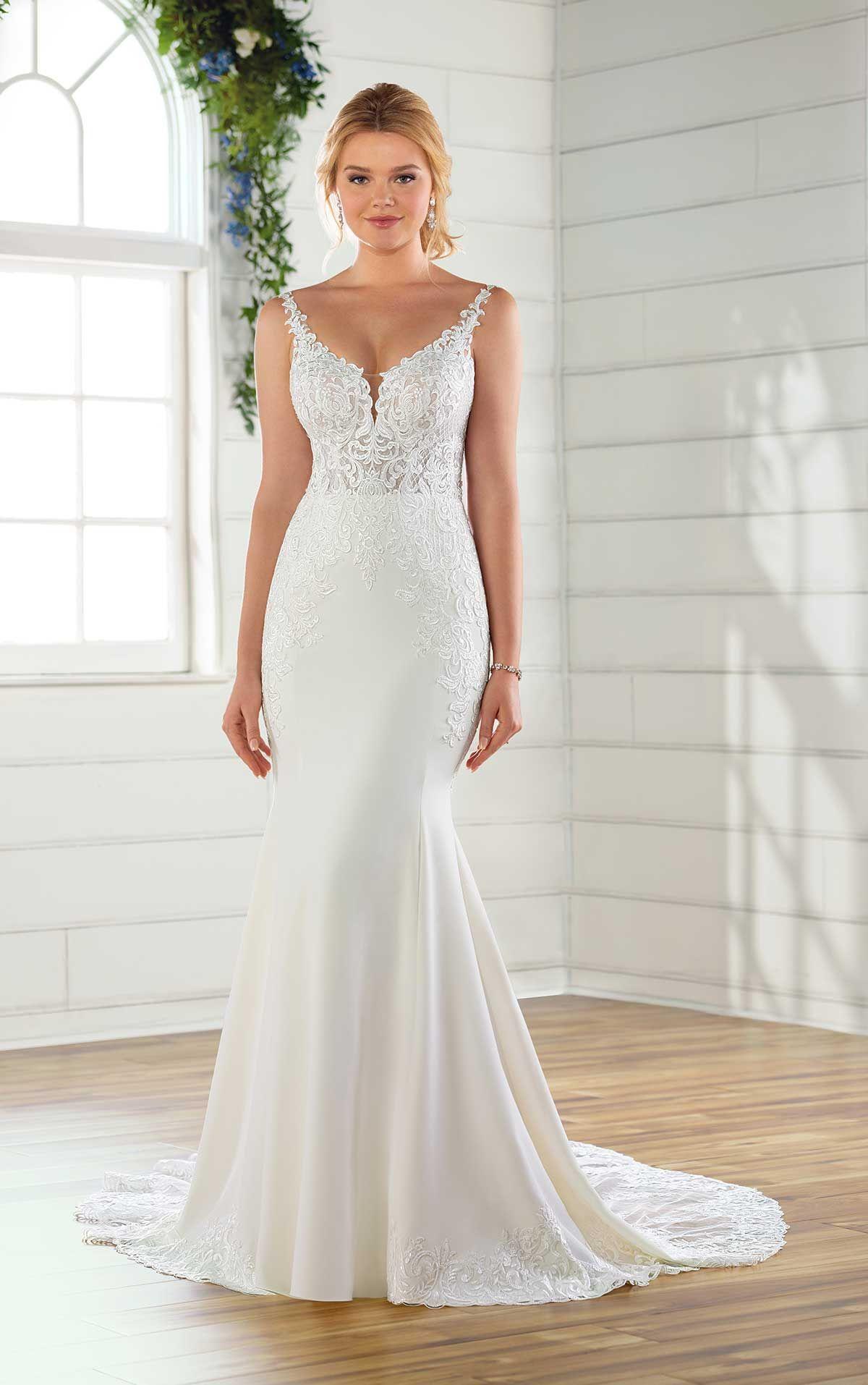 D26792.jpg (With images) Crepe wedding dress, Essense