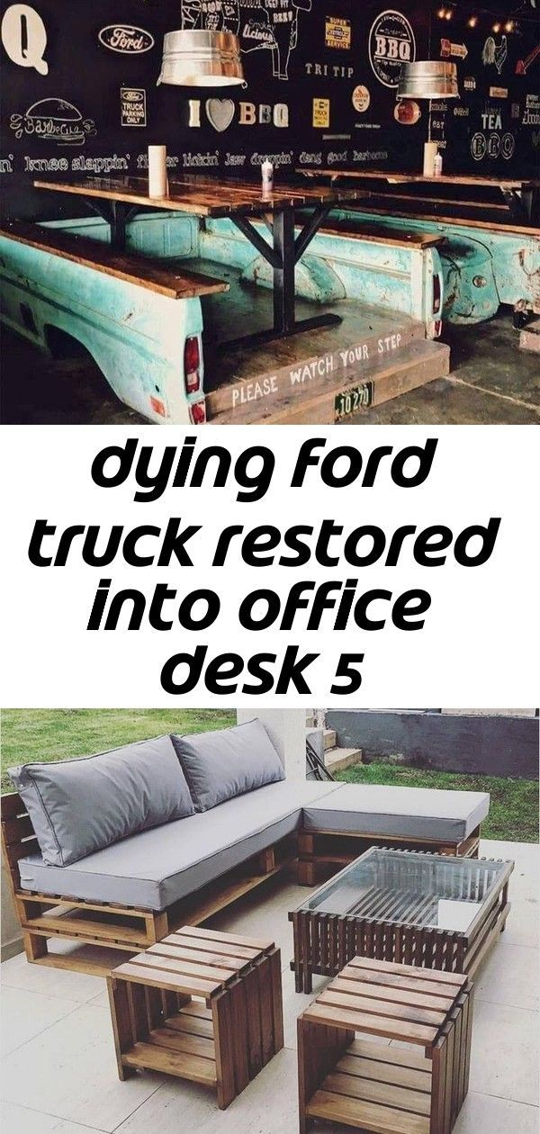 Dying ford truck restored into office desk 5#desk