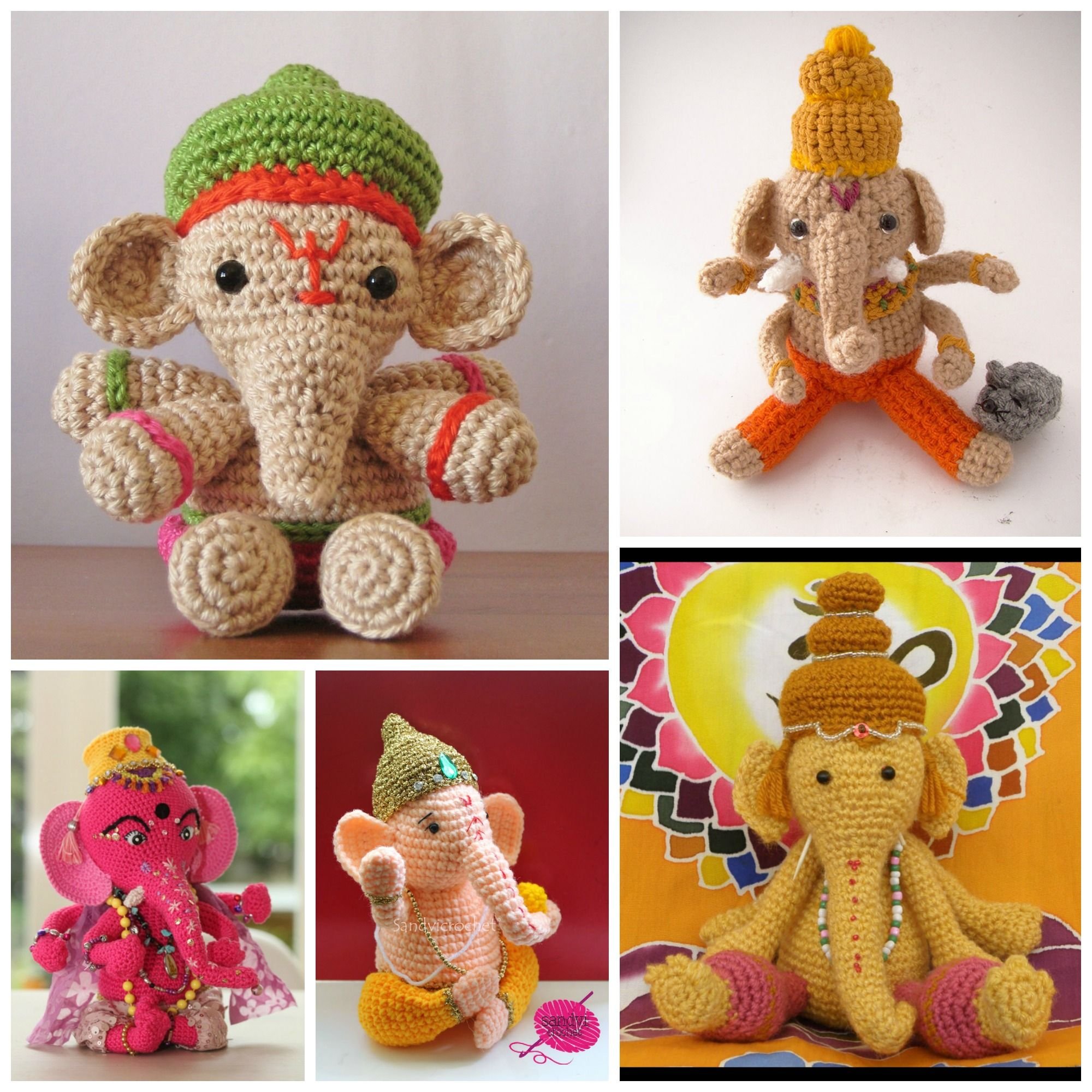 Ganesh images toys  Go Around the World Seven Times With Ganesha u FREE crochet patterns
