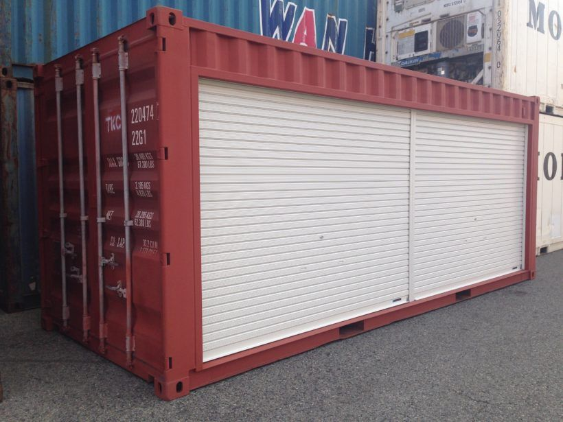 20 ft container side full shutter installation in 2019