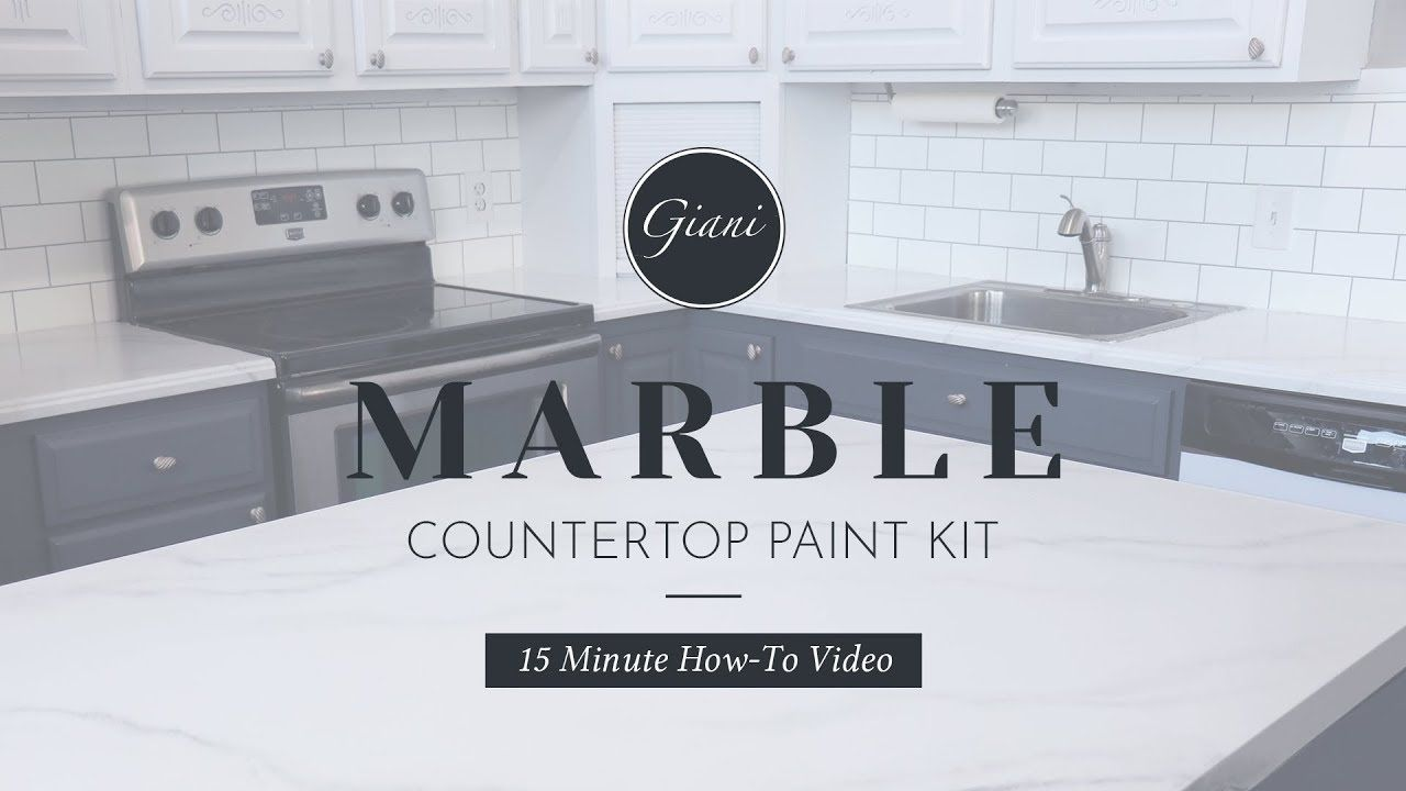 Giani Diy Marble Countertop Paint Kit 15 Min Demo Youtube