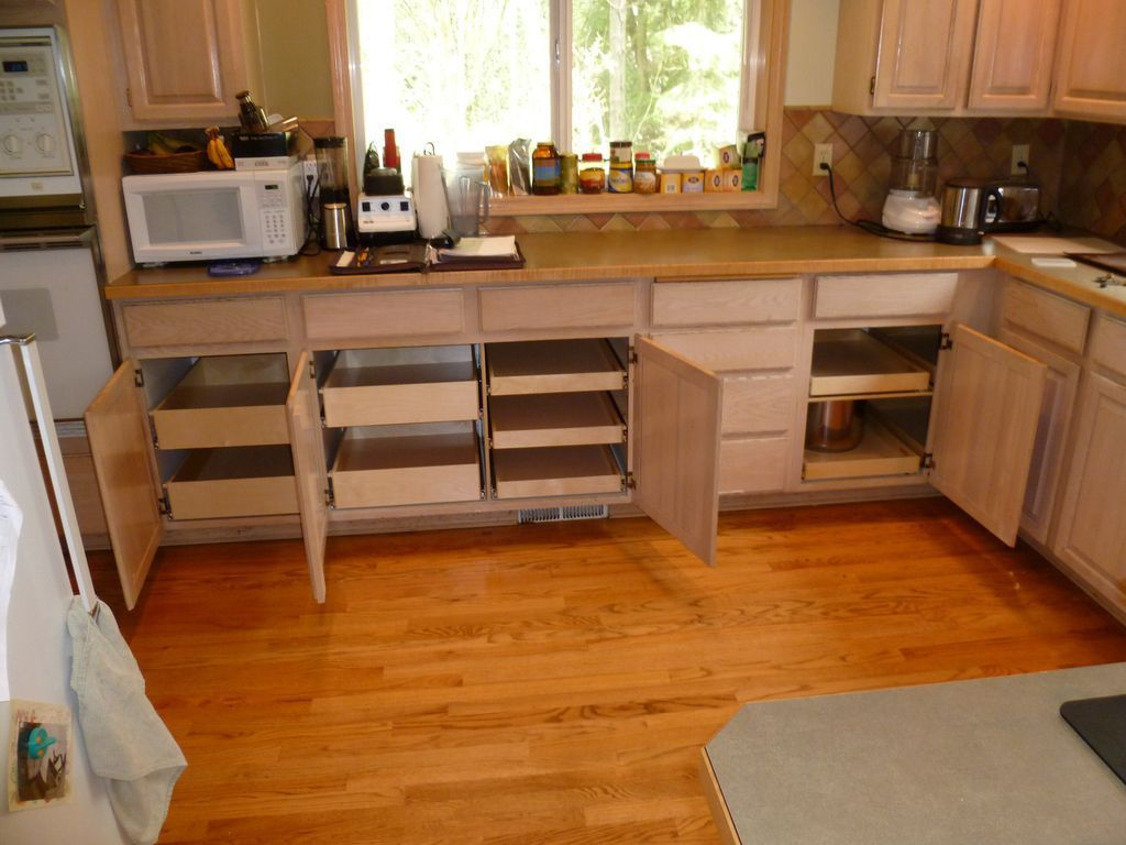 Kitchen cabi storage ideas diy corner cabinet solutions Diy under counter storage