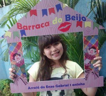 Plaquinha para festa Junina, Barraca do Beijo