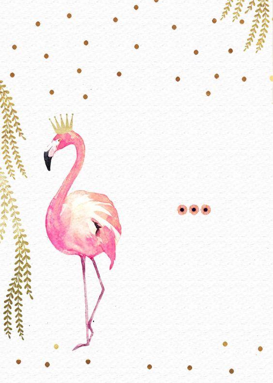 Convite Flamingo | cumpleaños | Pinterest