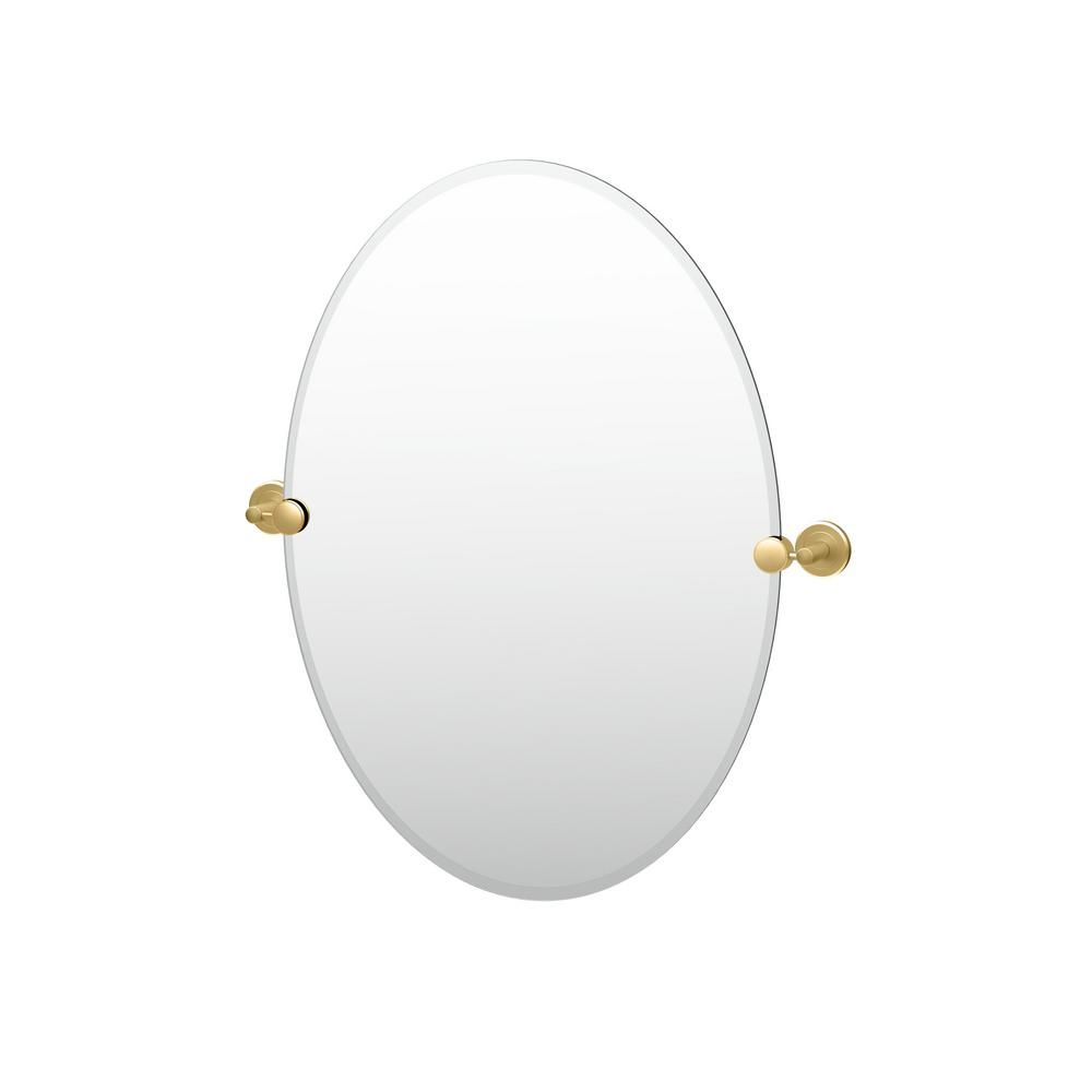 Gatco Latitude Ii 24 In X 27 In Frameless Oval Wall Mirror In
