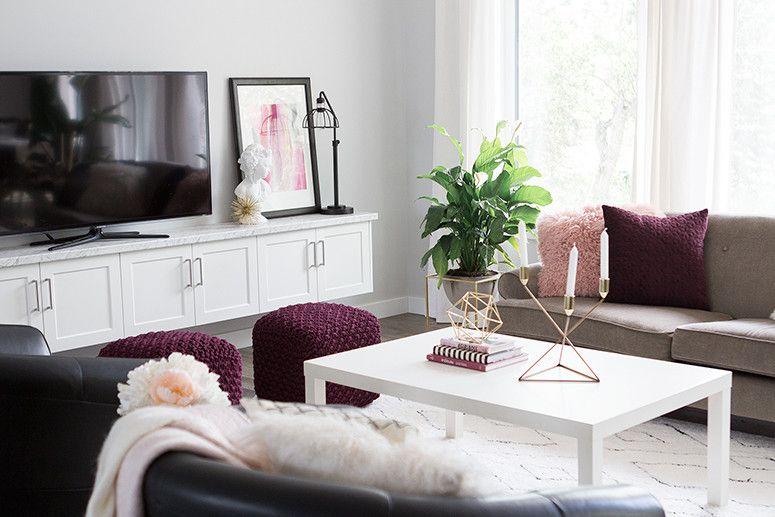 Living Room Trends Ideas For 2020 Hayneedle Burgundy Living Room Burgundy Couch Living Room Purple Living Room