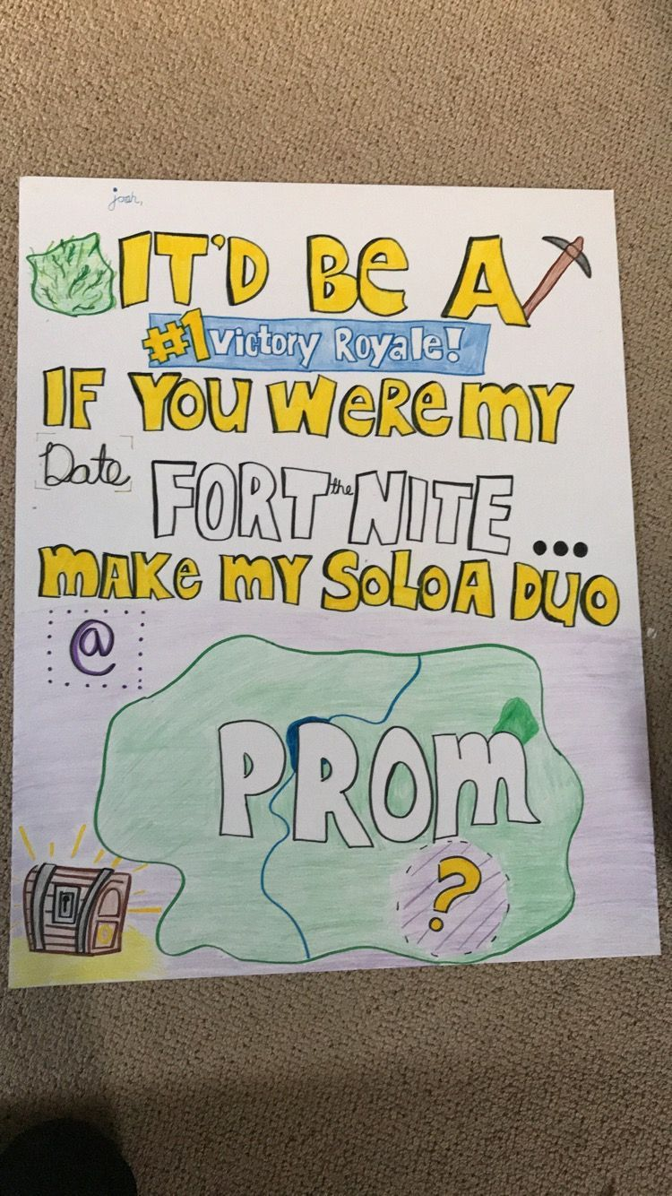 Fortnite promposal 2018 #hocoproposalsideasboyfriends