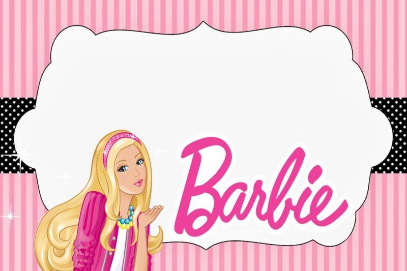 free barbie doll invitation card
