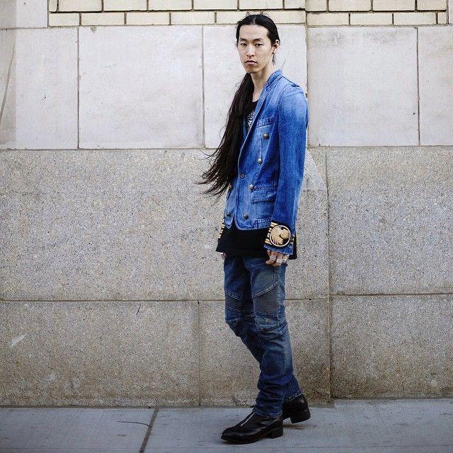 Balmain blue @atelierny  #Balmain #AtelierNewYork #denim #WataruShimosato #ニューヨーク