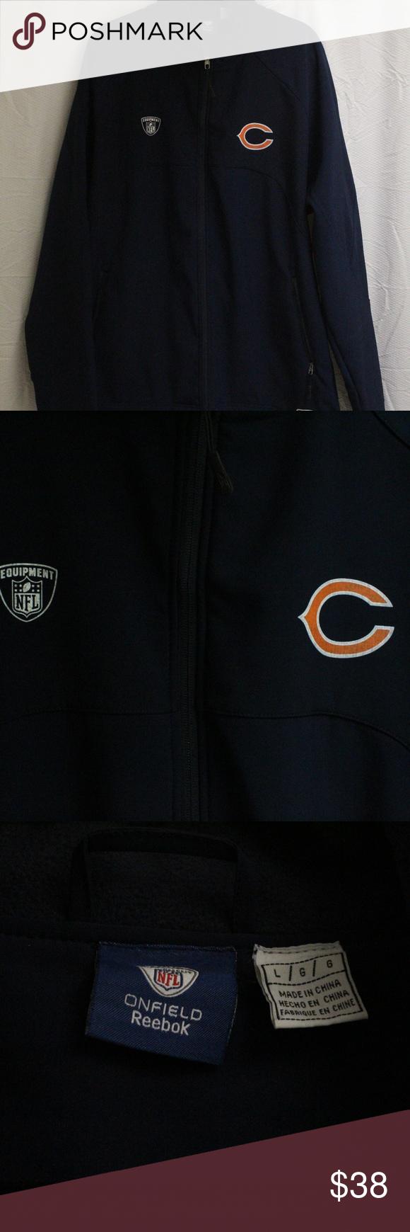 Reebok Jacket Reebok Chicago Bears Jacket Men S L But Runs Like An Xl In Excellent Condition Dark Blue Reebok Jackets Coats Jackets Bear Jacket Reebok [ 1740 x 580 Pixel ]