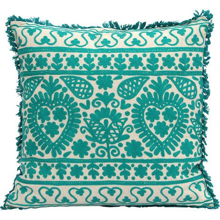 Toss this embroidered pillow on a colorful chair for a look that's bright and inviting, or add it to crisp bedding for a splash of springtime in a neutral sp...