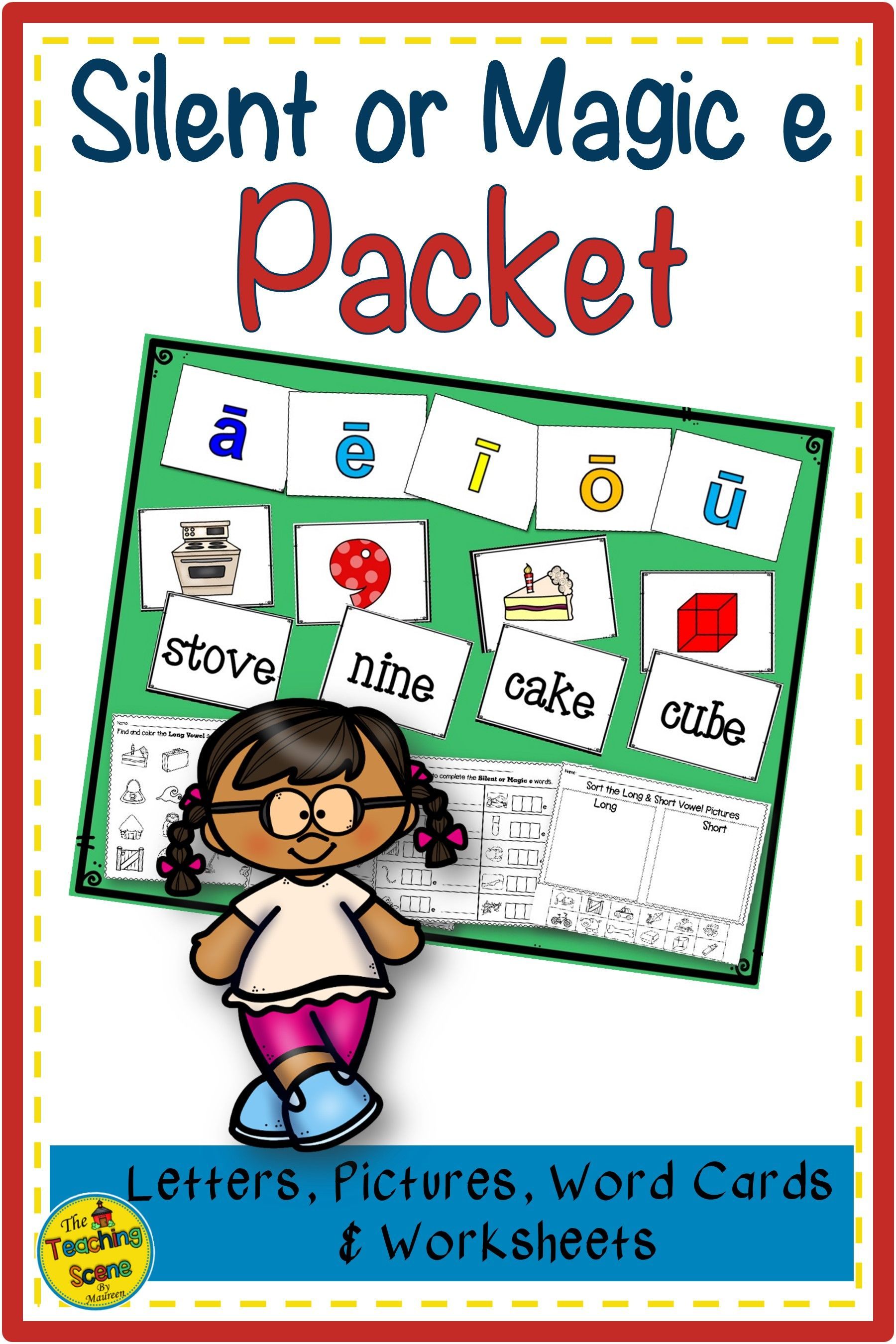 Silent Or Magic E Packet Letters Pictures Words