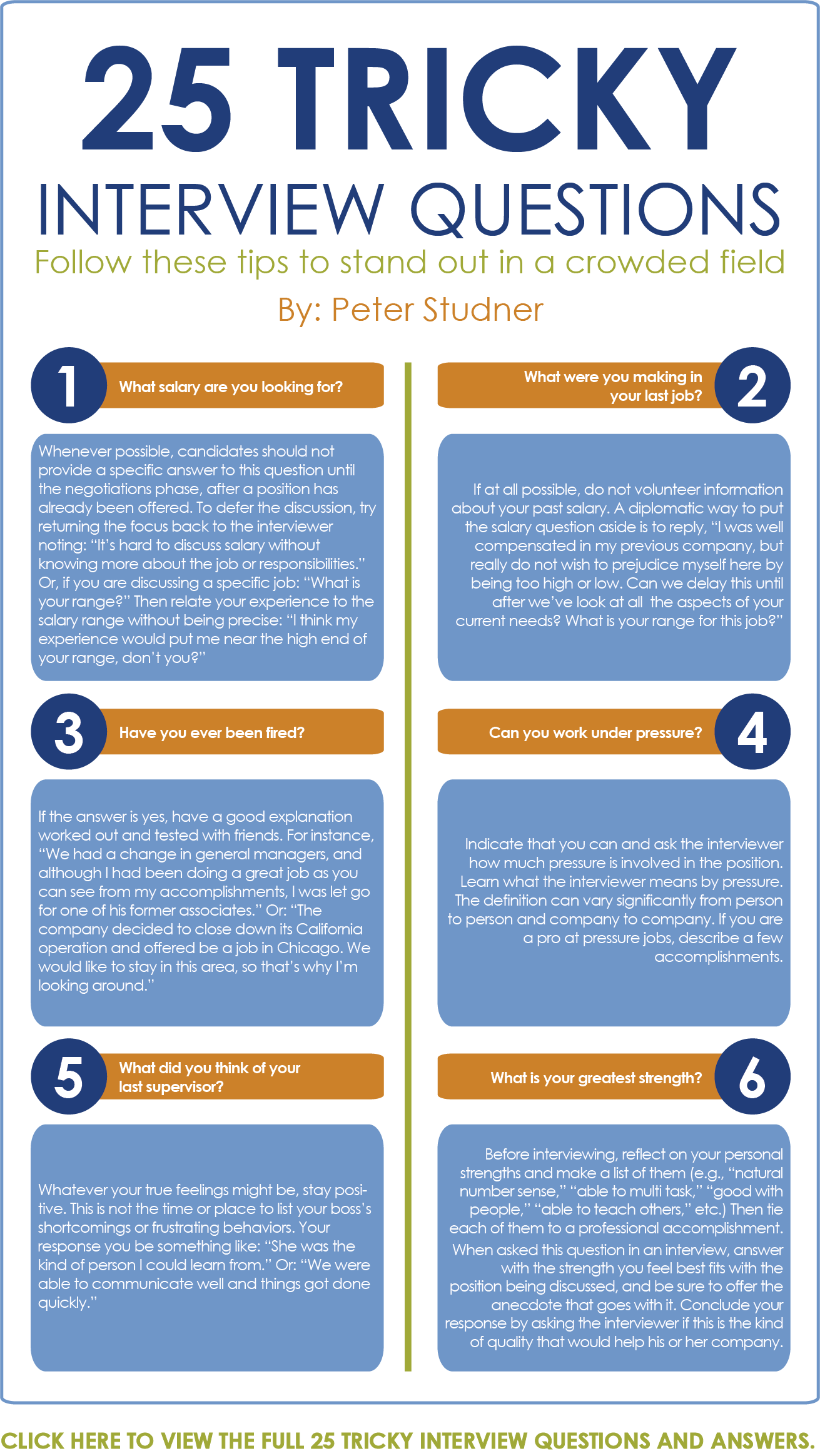 Infographic 10 Of 25 Tricky Interview Questions