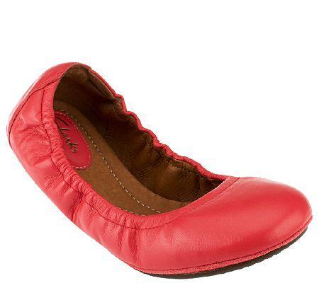 Clarks Artisan Leather Ballet Flats - Grayson Erica