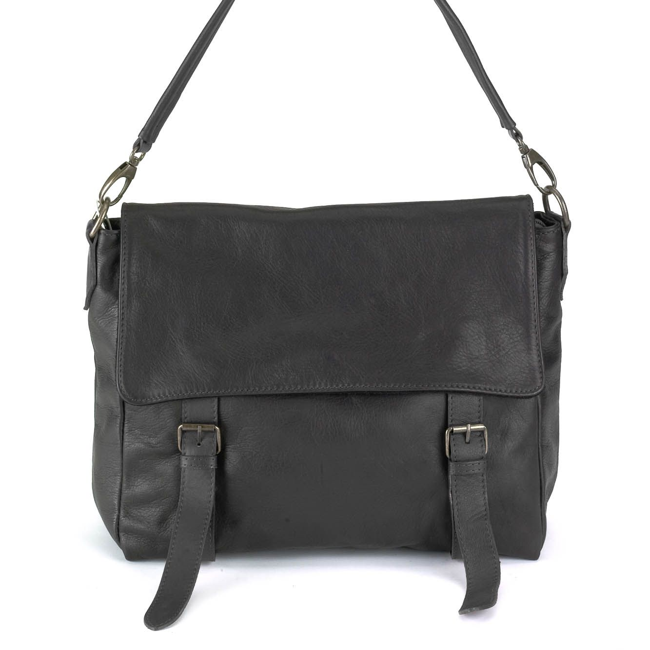 """Corecode Handbag Collection Genuine Italian Calfskin """"Sauvage"""" treated leather classic school styled messenger bag.  http://www.core-code.com/product/bg-w003-blk/ [$310.00]  #messengerbag #leathermessengerbag #leatherhandbag #italianleatherhandbag #messengerhandbag #genuineitaliancalfskin  #calfskin  #sauvagefinished"""