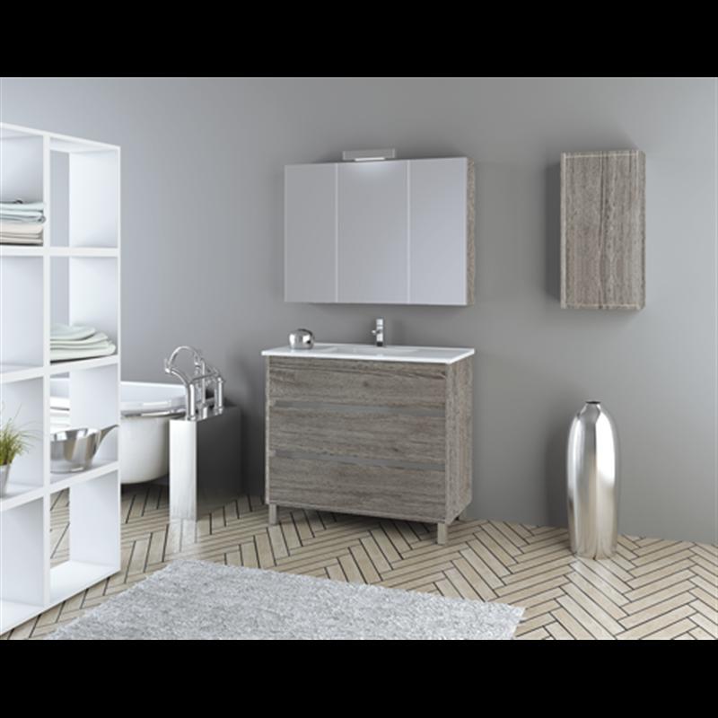 Mueble camerino tríptico 80 TEGLER | Espejos para baños ...