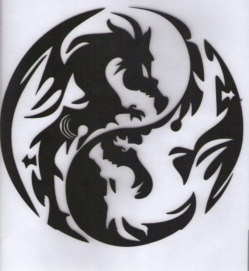 Dragon Yin Yang Symbol | Yin Yang Dragons + Carpet + by Princess ...