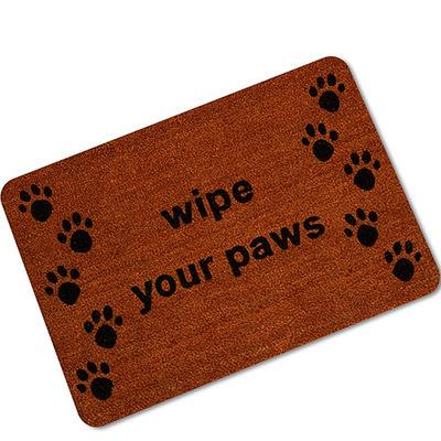 Dog Paw Funny Words Go Away Rubber Indoor Outdoor Welcome Anti